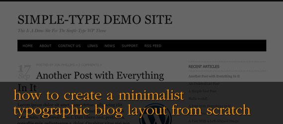 How to Create a Minimalist and Typographic Blog Layout From Scratch