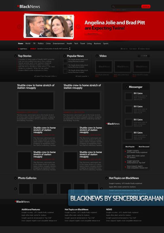 black-news-creative-web-design-layout-inspiration