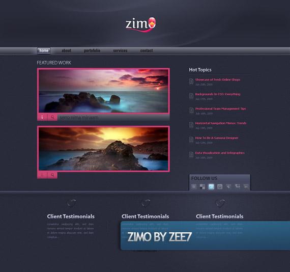 zimo-creative-web-design-layout-inspiration