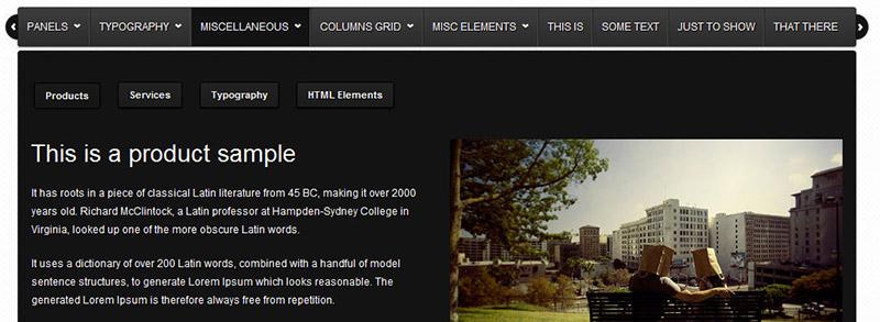 Thumbnail jQuery Dropdown menu solutions