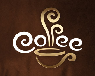 coffee typographic logo inspiration