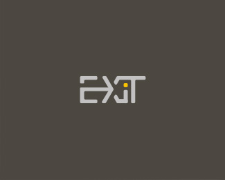 exit typographic logo inspiration
