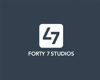 forty-7 typographic logo inspiration