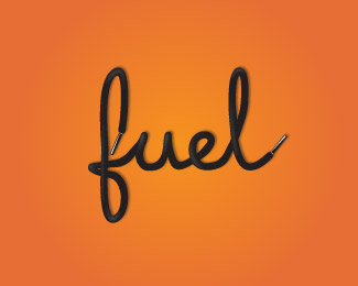 fuel-fitness typographic logo inspiration