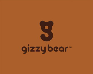 gizzy-bear typographic logo inspiration