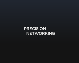 precision-networking typographic logo inspiration