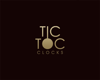 tic toc typographic logo inspiration - Creative Logo Design Ideas