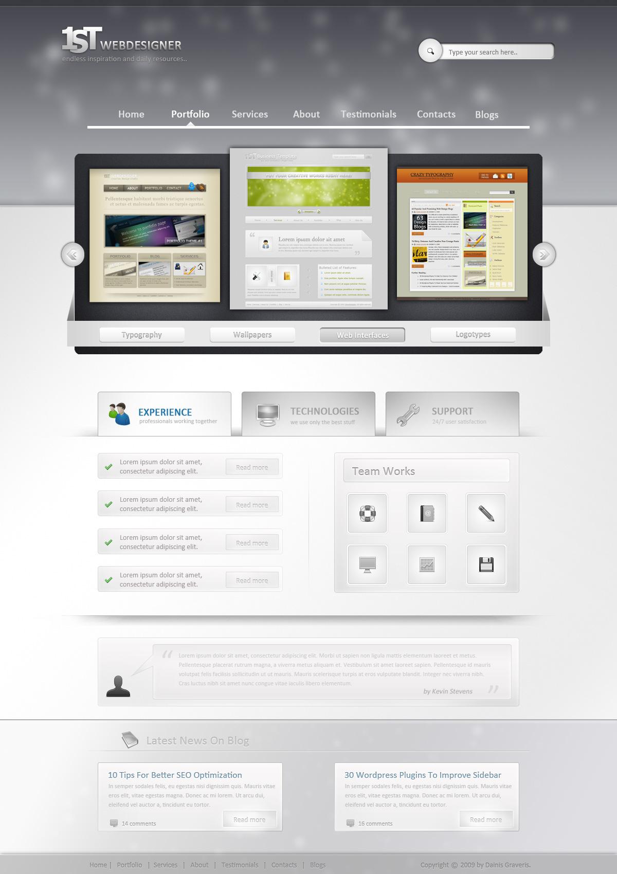 1st photoshop web design professional layout tutorial dizajn bre finished preview web design baditri Gallery