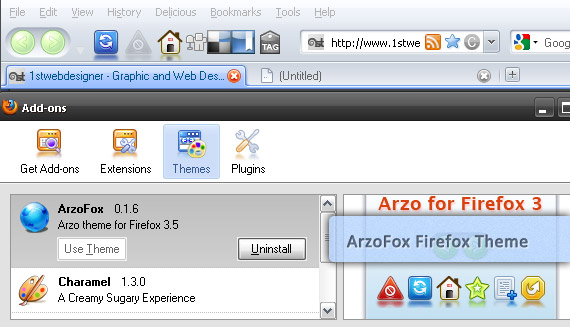 arzo-fox-free-popular-firefox-3-5-theme