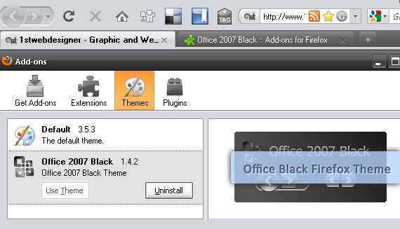 office-2007-black-free-popular-firefox-3-5-theme