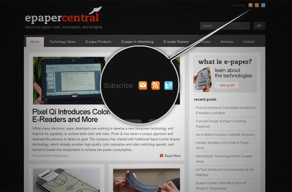 e-paper-central-rss-icon-inspiration-website