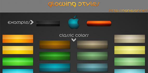 Stylish Glowing Colors Web Ui Pack Psd – Fondos de Pantalla