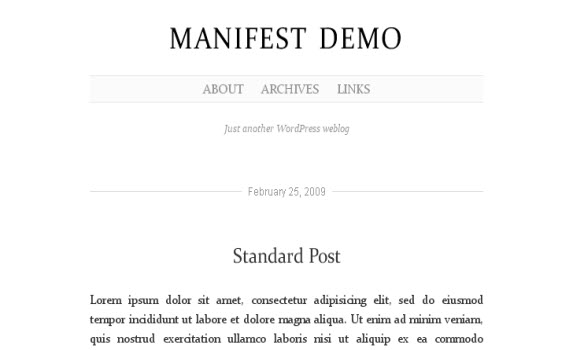 manifest-minimalist-typography-wordpress-theme