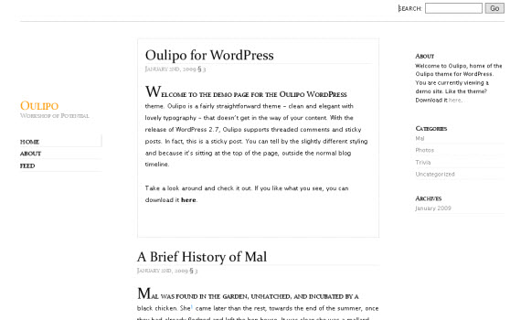 oulipo-minimalist-typography-wordpress-theme