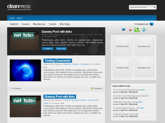 Index Of Wp Content Uploads 2009 12 100 Wordpress Themes 2009