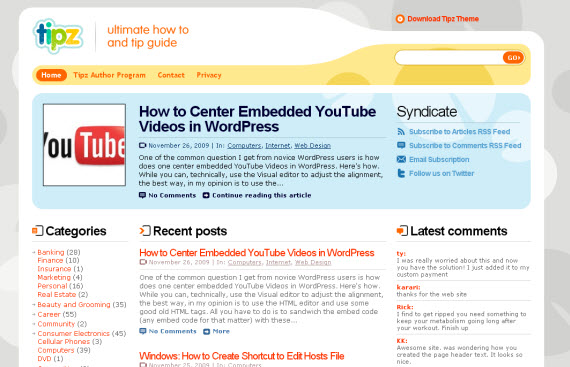 tipz-free-premium-wordpress-theme