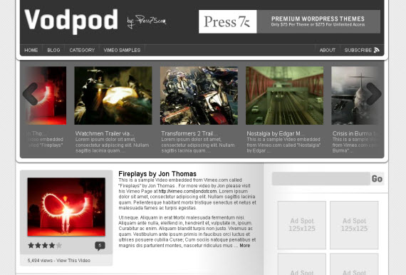 vodpod-free-premium-wordpress-theme