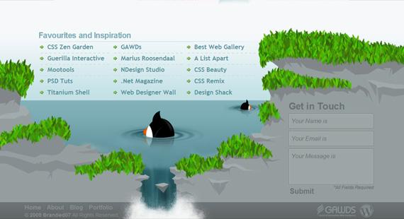 Webdesign d'un footer