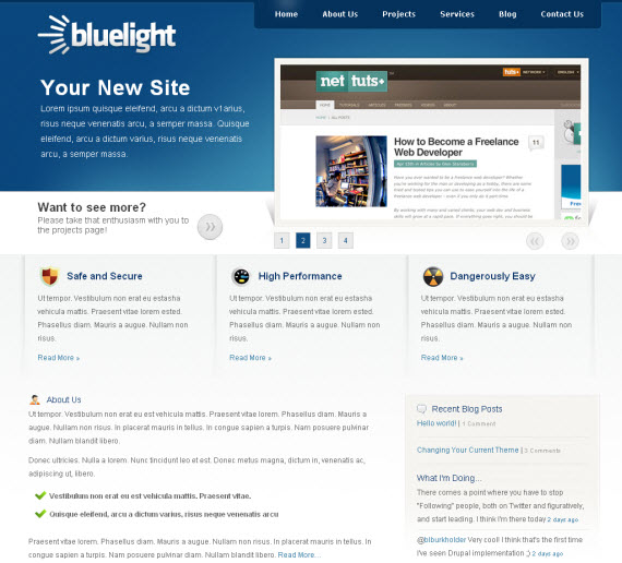 Bluelight-commercial-wordpress-portfolio-showcase-theme