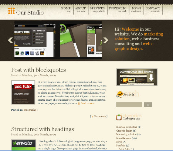 Gold-wordpress-portfolio-showcase-theme