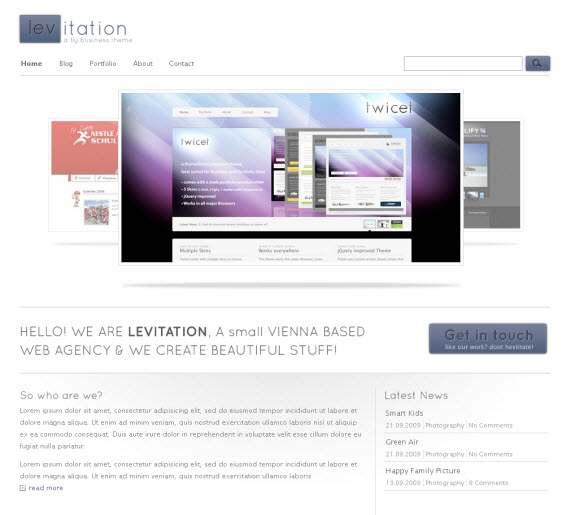 Levitation-commercial-wordpress-portfolio-showcase-theme
