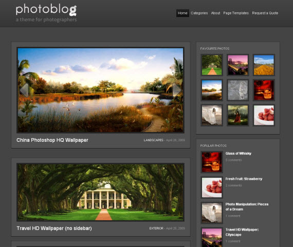 Photoblog-commercial-wordpress-portfolio-showcase-theme