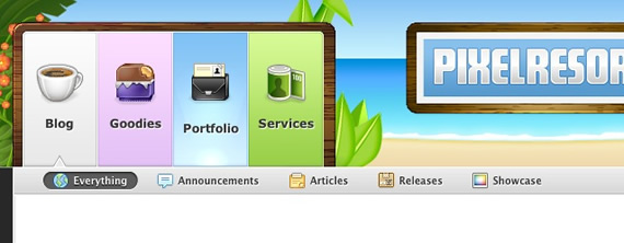 Pixel-resort-css-navigation-inspiring-webdesign