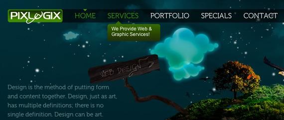 Pixlogix-css-navigation-inspiring-webdesign