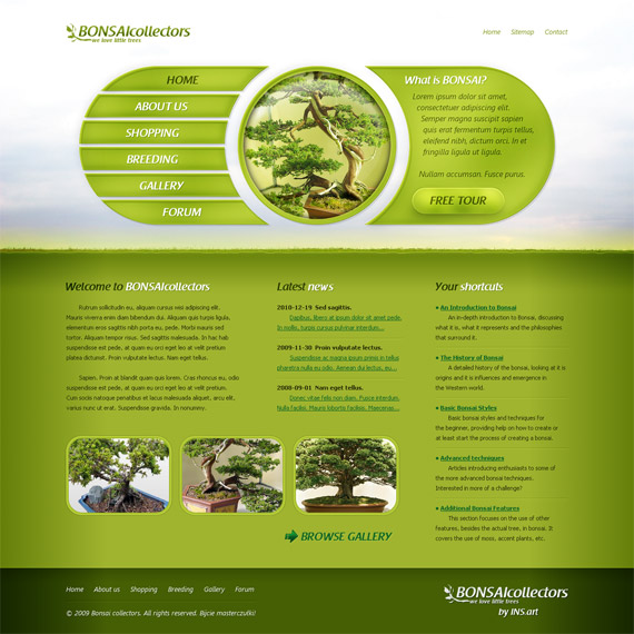 Bonsai-collectors-web-design-interface-inspiration-deviantart
