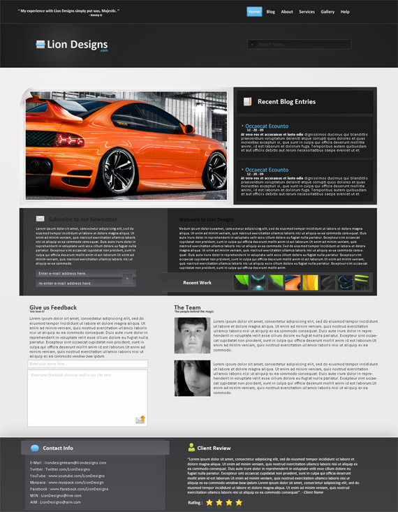 eagrapho » 55 Trendy Web Design Interfaces From Deviantart