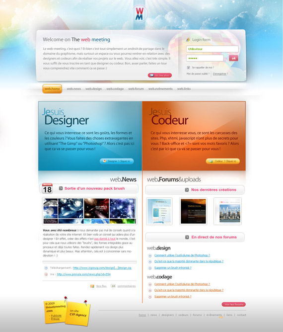 Web-meeting-web-design-interface-inspiration-deviantart