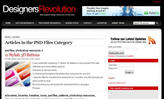 designers-revolution-photoshop-psd-resource-sites