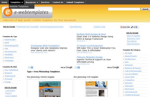 e-web-templates-photoshop-psd-resource-sites