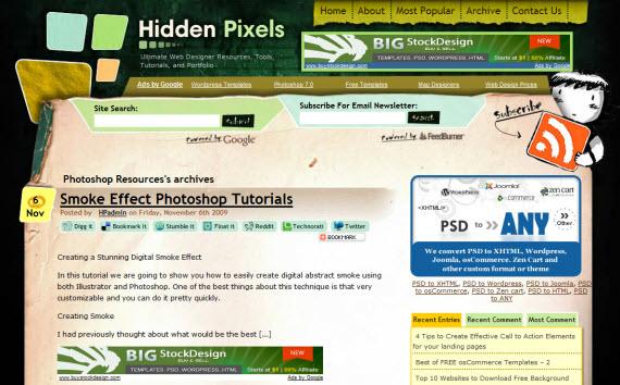 hidden-pixels-photoshop-psd-resource-sites