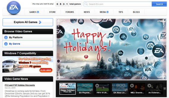 electronic-arts-showcase-of-best-inspiring-gaming-websites