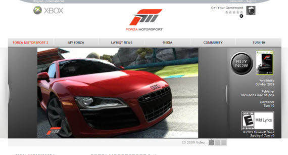 forza-motorsport-3-showcase-of-best-inspiring-gaming-websites