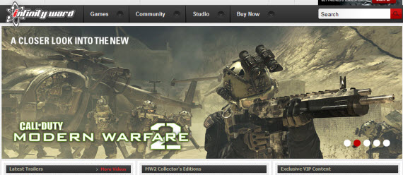 infinity-ward-showcase-of-best-inspiring-gaming-websites