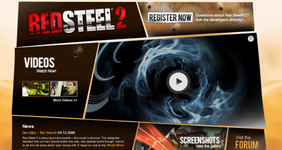 red-steel-2-showcase-of-best-inspiring-gaming-websites