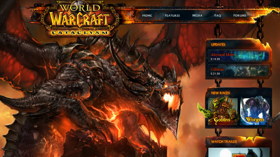 world-of-warcraft-cataclysm-showcase-of-best-inspiring-gaming-websites