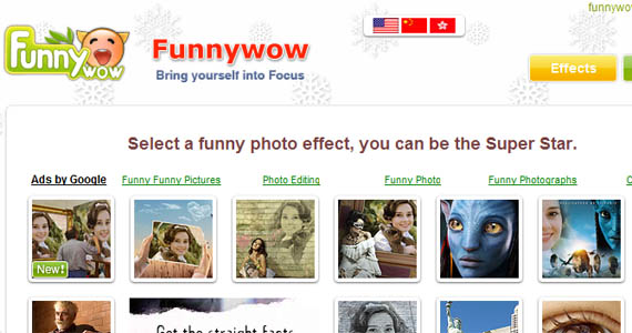 Funnywow-fun-online-photo-editing-websites