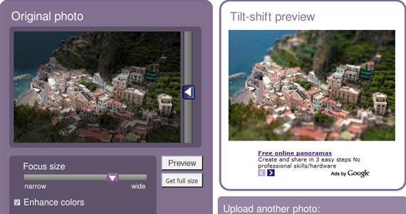 Tiltshift-maker-coastline-fun-online-photo-editing-websites