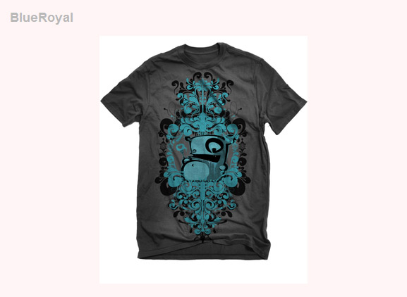 Blue-royal-cool-creative-tshirt-designs