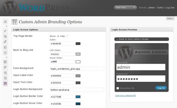 custom-admin-branding-admin-plugins-for-wordpress ওয়ার্ডপেস এডমিনের জন্য ৩০টি শক্তিশালি প্লাগইন্স