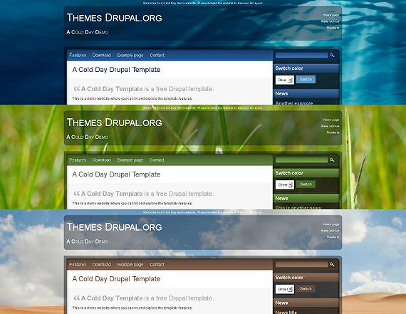 drupal-a-cold-day-drupal-6-theme-web-design