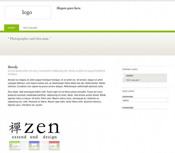 zen theme drupal