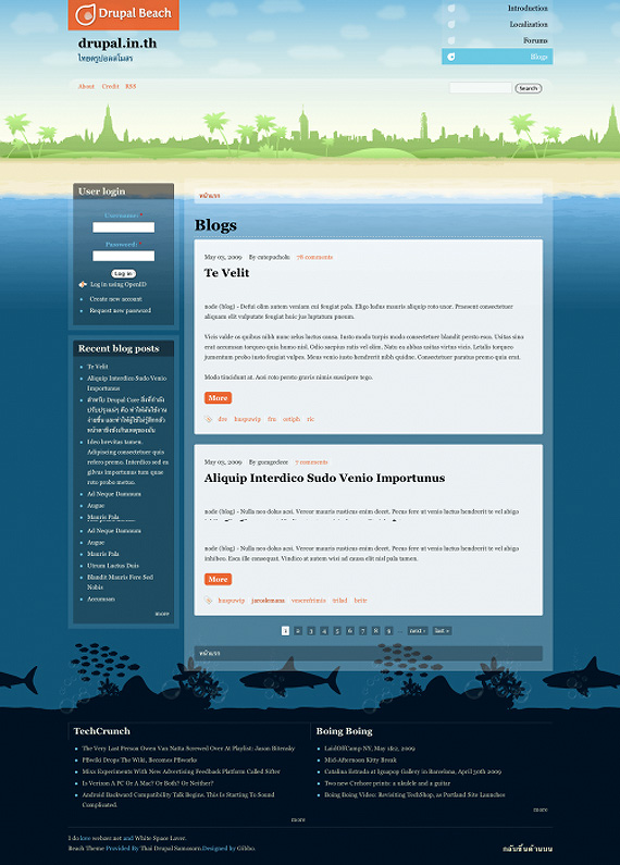 drupal-beach-drupal-6-theme-web-design
