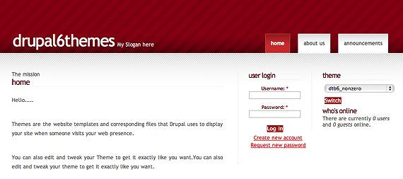 drupal6themes-drupalthemebank-nonzerored-dtb-drupal-6-theme-web-design