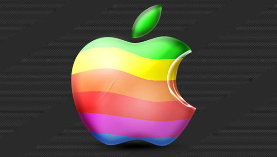 How to create a colorful mac logo