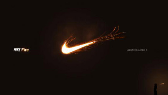 How to create nike fire logo
