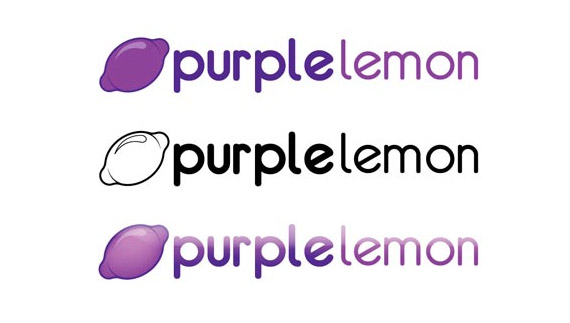 Purple lemon logo design process